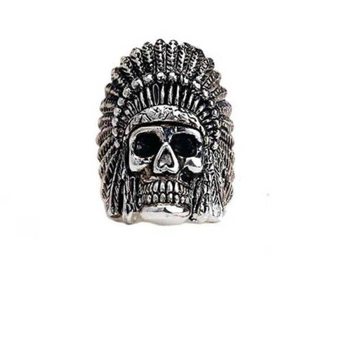 Han Cholo Indian Chief  Ring From Shadow Series HCR60 Silver