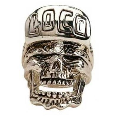 Han Cholo Loco Skull Ring From Shadow Series HCR61 Silver