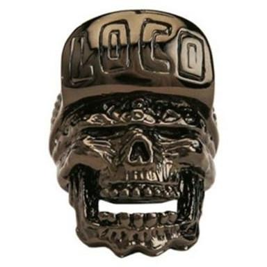 Han Cholo Loco Skull Ring From Shadow Series HCR61 Gun Metal