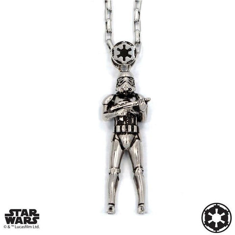 "Han Cholo STORMTROOPER PENDANT 30"" Silver HCSW12"