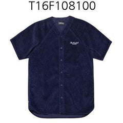 THE HUNDREDS Chapter Button-Up Shirt Navy T16F108100