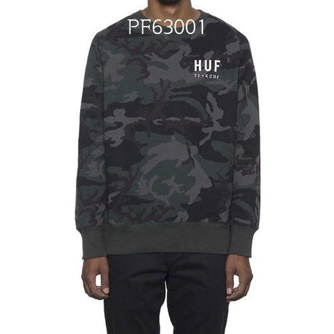 HUF Basic Training Crew Woodland PF63001
