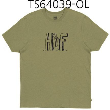 HUF Spike Huf Block Letters Tee Olive TS64039