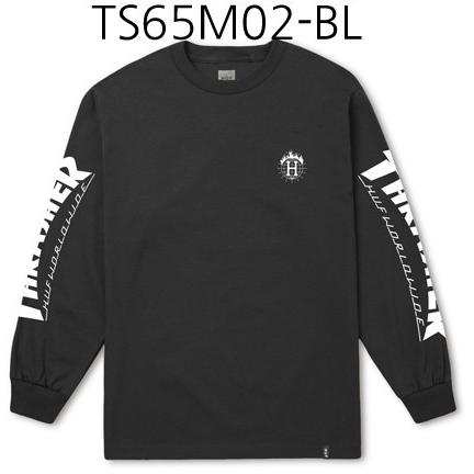 HUF Thrasher TDS Long Sleeve Tee Black TS65M02