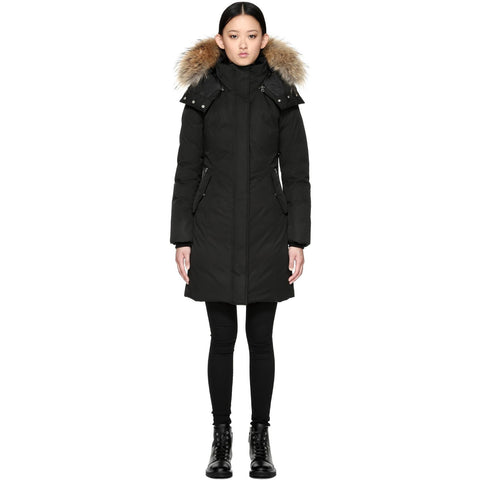 MACKAGE Kerry Winter Down Coat With Sheepskin And Fur Black KERRY