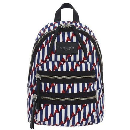 Marc Jacobs Arrow Print Biker Mini Backpack Paris Blue Kiss Multi M0008319