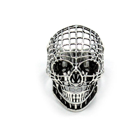 Han Cholo Mesh Skull  Ring From Shadow Series HCR218 Silver