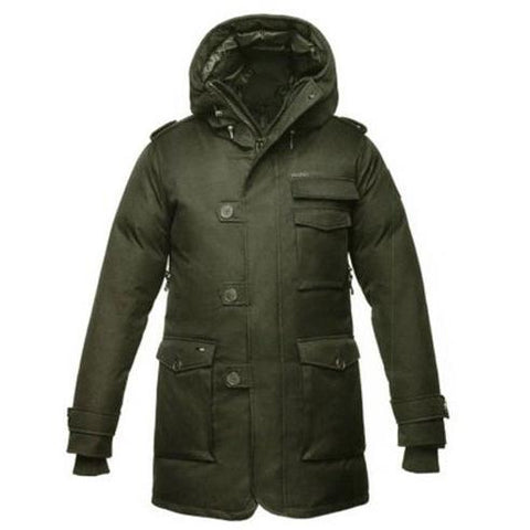Nobis The Shelby Men's Military Parka Crosshatch Green