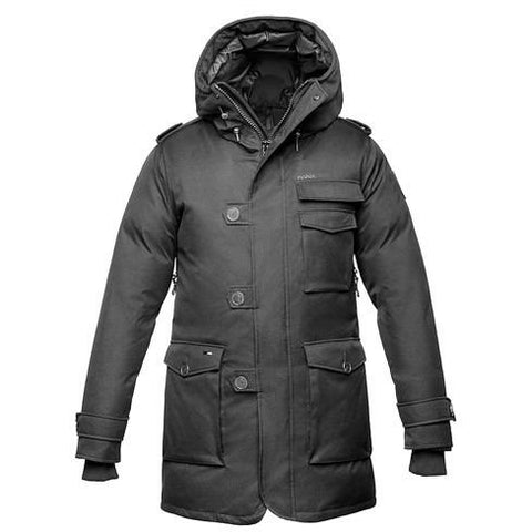 Nobis The Shelby Men's Military Parka Crosshatch Black