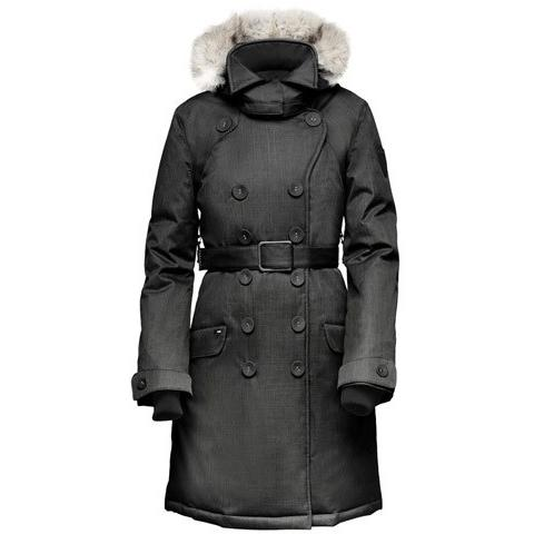 Nobis The Tula Ladies Peacoat Crosshatch Black