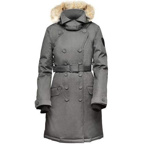 Nobis The Tula Ladies Peacoat Crosshatch Steel Grey
