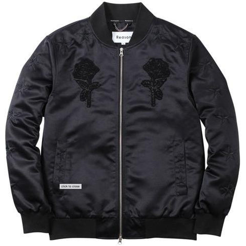 Reason Star roses Bomber Black RH15-427