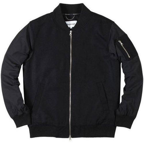 Reason PERFECTION BOMBER JACKET - BLK/BLK RF15-005