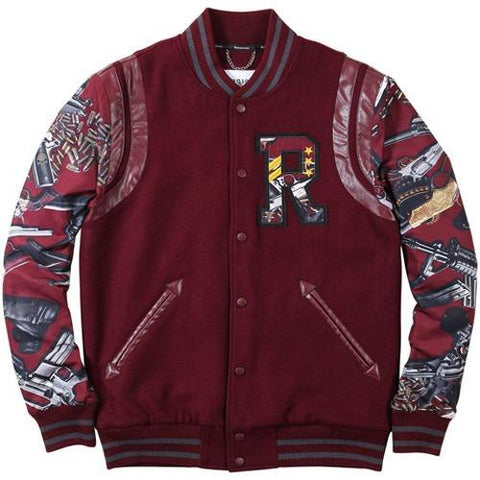 Reason HARD KNOCKS VARSITY - BURGUNDY/MULTI RF15-002