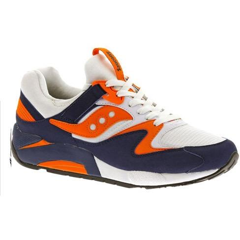 Saucony Men's Grid 9000 White/Blue/Orange #S70077-35