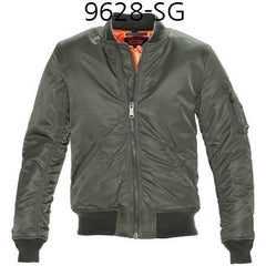 SCHOTT NYC Mens Nylon Flight Jacket Sage 9628