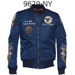 SCHOTT NYC Mens Nylon Flight Jacket Navy 9629
