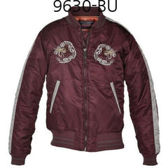 SCHOTT NYC Mens Nylon Tour Jacket Burgundy 9630