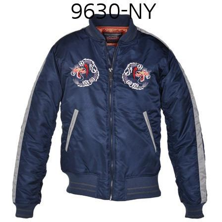 SCHOTT NYC Mens Nylon Tour Jacket Navy 9630