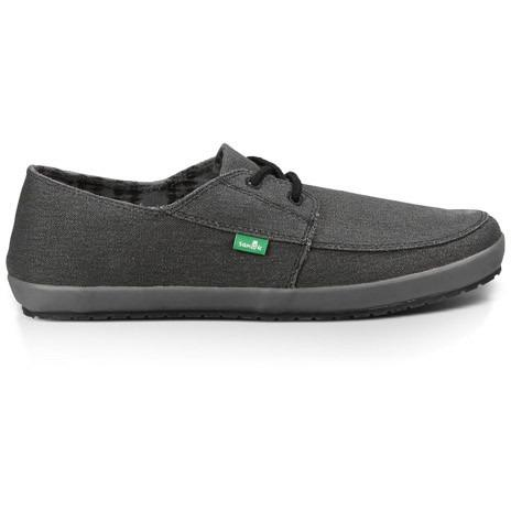SANUK Mens KNOCK OUT in WASHED BLACK