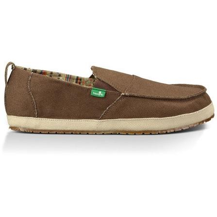 SANUK Mens Commodore Slip-On Loafer in Brown/Tan