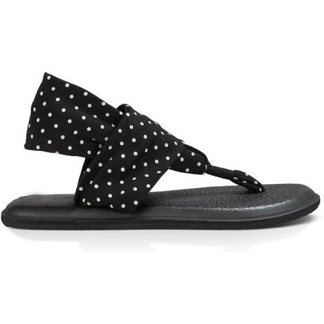 SANUK WOMENS YOGA SLING 2 PRINTS in Black/White dots