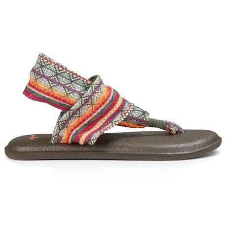 SANUK WOMENS YOGA SLING 2 PRINTS in Olive/Multi Tribal st