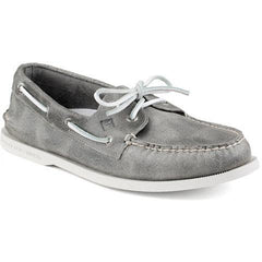 SPERRY MENS AUTHENTIC ORIGINAL WHITE CAP BOAT SHOE in  GREY