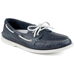 SPERRY MENS AUTHENTIC ORIGINAL WHITE CAP BOAT SHOE in NAVY