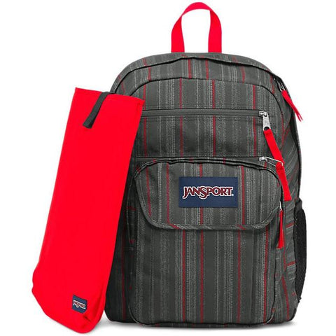 Jansport Digital Student Backpack Red Tape Grunge Stripe JS00T69D06F