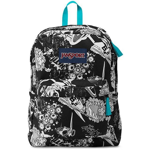Jansport Superbreak Backpack Black Superhero JS00T50106N