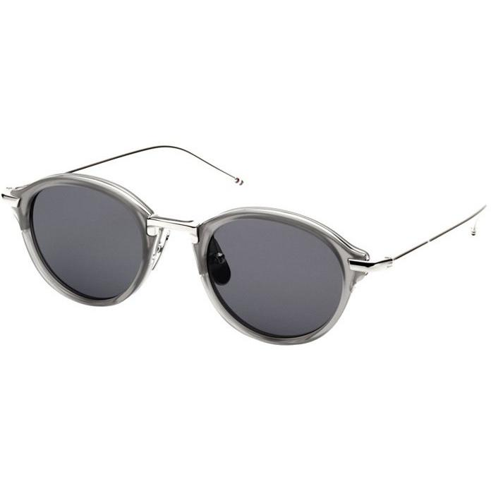 Thom Browne Sungls TB-011C-T-46 Satin Grey Crystal-Shiny Silver