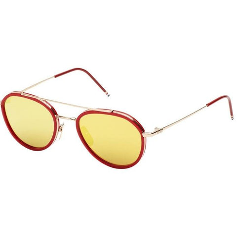 Thom Browne Sungls TB-801-D-GLD-RED-51 12k Gold-Red