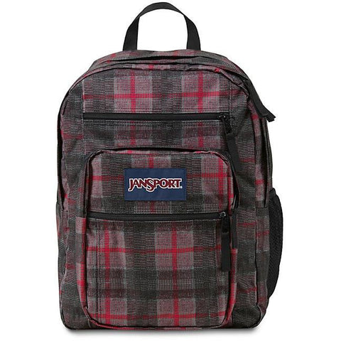 Jansport Big Student Backpack Red Tape Knit Plaid JS00TDN706G
