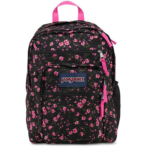 Jansport Big Student Backpack Lipstic Tea Rose Ditzy JS00TDN70AK