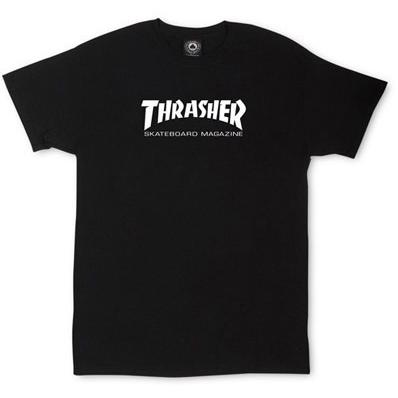 Thrasher Youth Skate Magazine Logo T-Shirt Black 311406