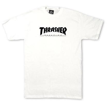 Thrasher Youth Skate Magazine Logo T-Shirt White 311406