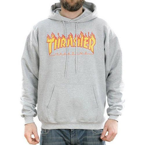 Thrasher Flame Logo Hood Grey 312007