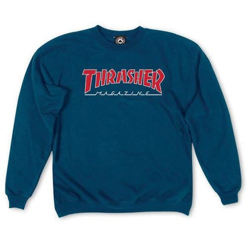 THRASHER Outlined Crewneck Navy 312126