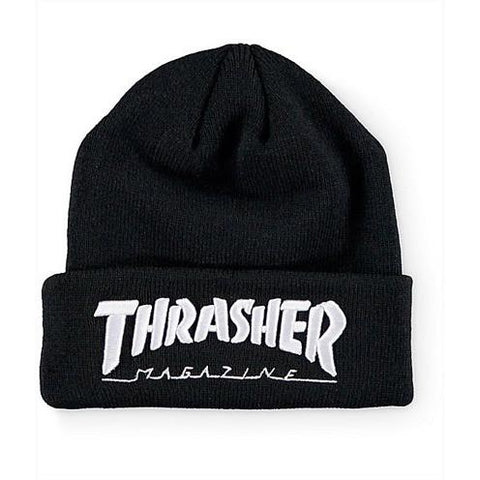 THRASHER Embroidered Logo Beanie Black/White 3131340