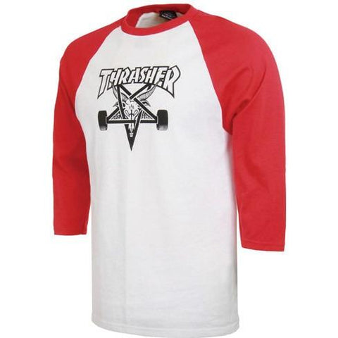 THRASHER Skategoat Raglan T-Shirt White/Red 314027