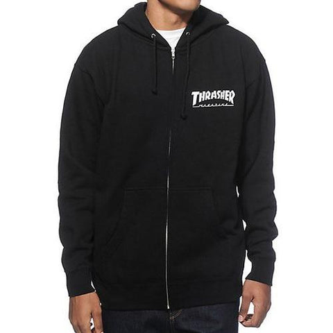 Thrasher Magazine Logo Zip Hood Black 314128