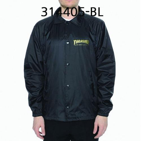THRASHER Pentagram Coach Jacket Black 314405