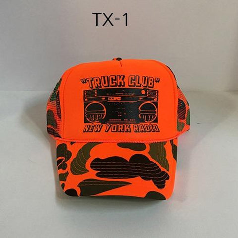 TRUCK BRAND Boogie-Orange Camo Mesh Hat Orange/Camo TX-10