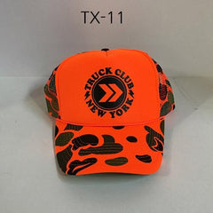 TRUCK BRAND Buzz-Orange Camo Mesh Hat Orange/Camo TX-11