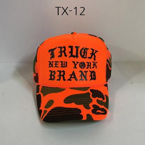 TRUCK BRAND Zoo-Orange Camo Mesh Hat Orange/Camo TX-12