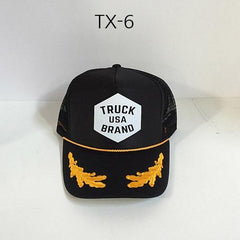TRUCK BRAND Market-Black Oak Leaves Mesh Hat Black/OakLeaves TX-6