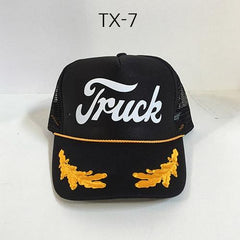 TRUCK BRAND Detroit-Black Oak Leaves Mesh Hat Black/OakLeaves TX-7