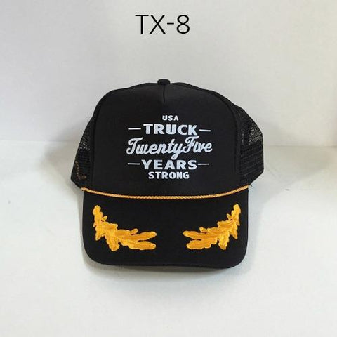 TRUCK BRAND Detroit-Black Oak Leaves Mesh Hat Black/OakLeaves TX-8