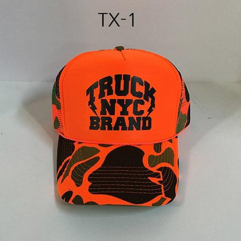 TRUCK BRAND Bronx-Orange Camo Mesh Hat Orange/Camo TX-9